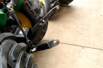 John Deere 3038E increase in the lifting height of the hitch